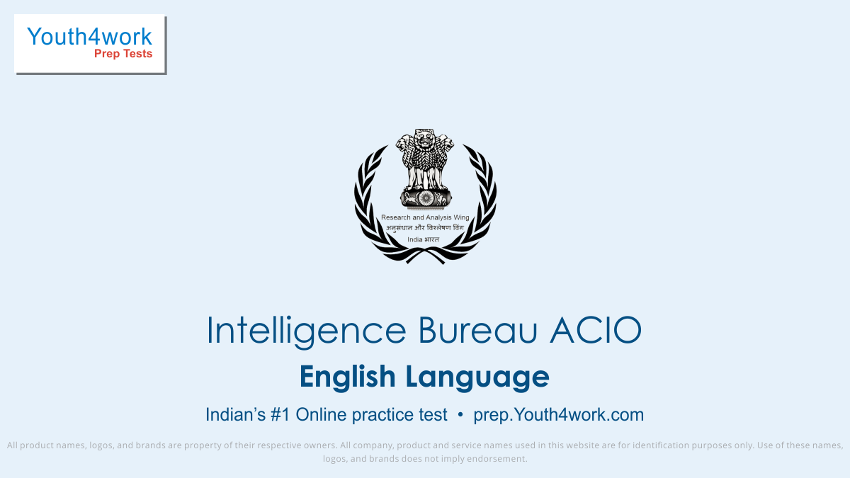 English language, IB ACIO mock test, intelligence bureau recruitment 2018, intelligence bureau recruitment, Asst. central intelligence bureau, government job preparation, IB ACIO, online test, mock test, practice paper, exam paper
