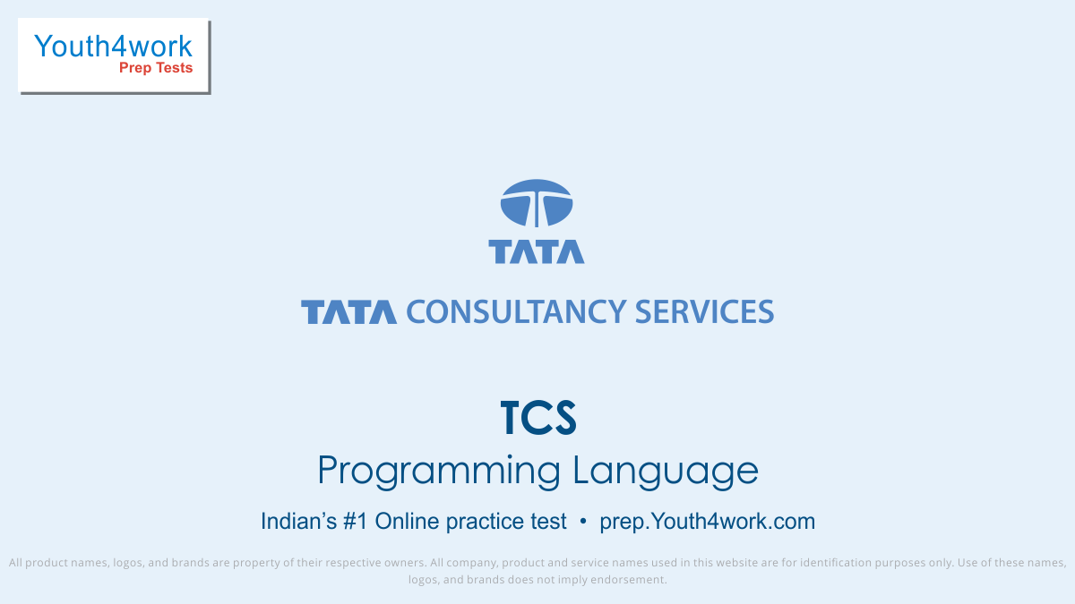 tcs free programming language mock test, tcs online programming language test series, tcs programming language practice set, tcs programming language preparation test, online entrance exam programming language test for tcs, tcs programming mcqs question, tata consultancy services entrance programmin