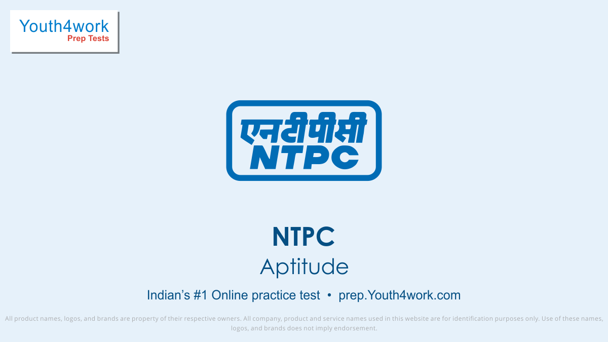 NTPC Aptitude Mock Series, Selection Test, Sample Paper