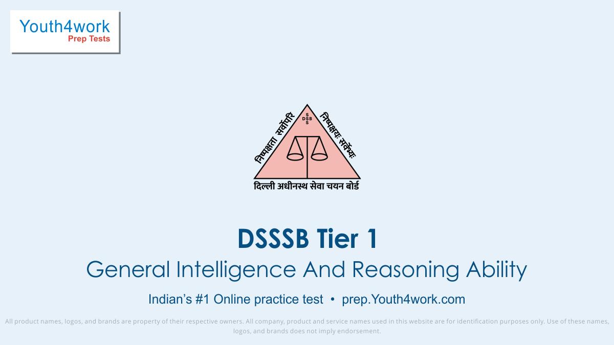 DSSSB, dsssb online test, sample paper, dsssb recruitment, dsssb recruitment exam, dsssb tier 1, exam prep, online test, mock test, question paper, practice test