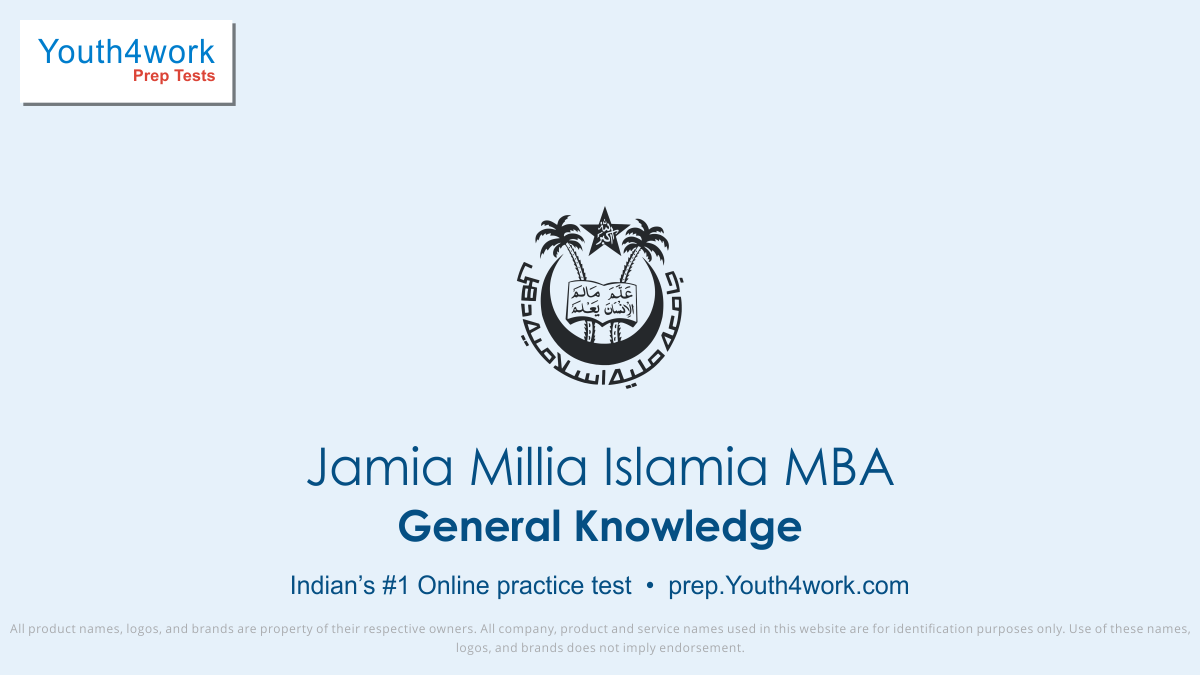 jmi mba free general knowledge mock tests, jmi mba online general knowledge test series, jmi mba general knowledge practice set, jmi mba general knowledge preparation test, online entrance exam general knowledge test for jmi mba, jmi mba general knowledge mcqs question, jamia millia islamia mba gene