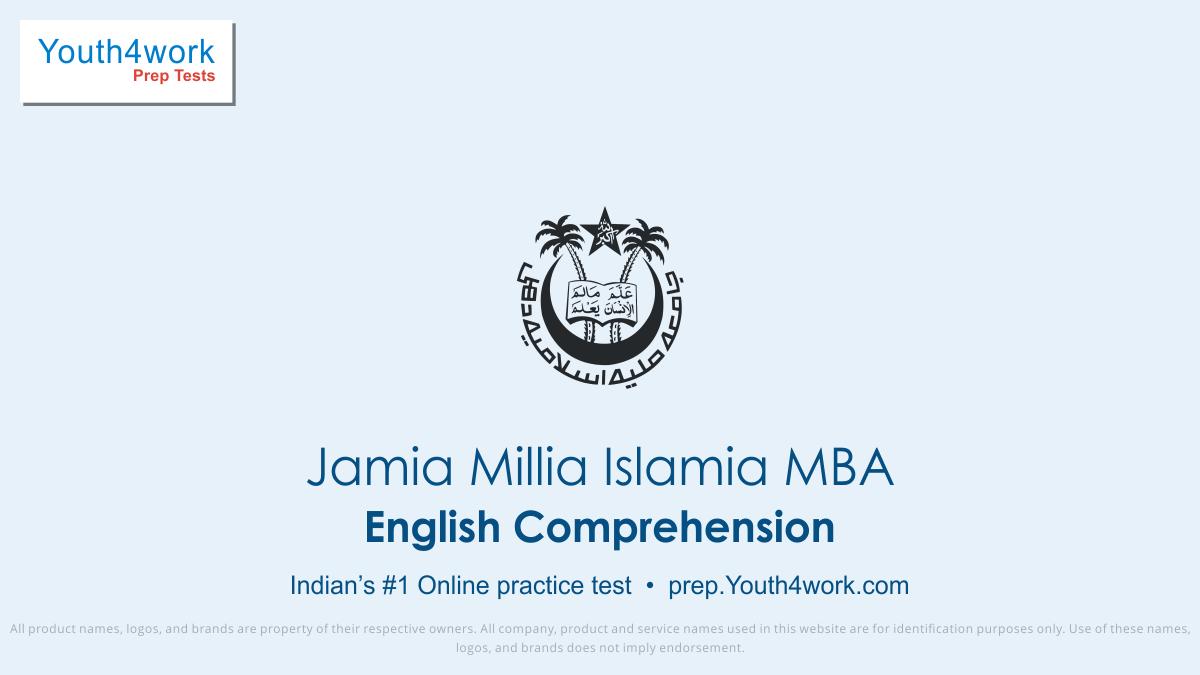 jmi mba free english mock tests, jmi mba online english test series, jmi mba english practice set, jmi mba english preparation test, online entrance exam english test for jmi mba, jmi mba english mcqs question, jamia millia islamia mba english test