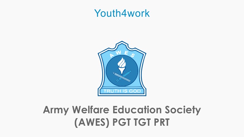 Army Welfare Education Society (AWES) PGT TGT PRT