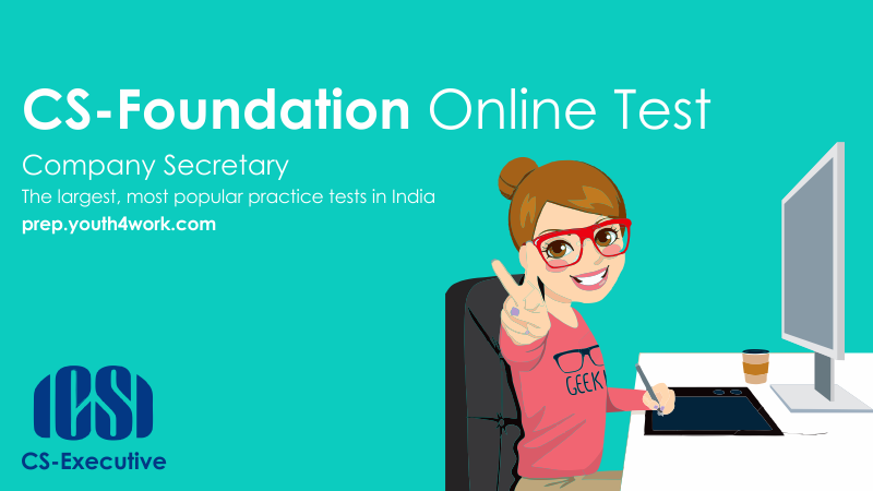 free online cs test, cs mock test, company secretary, cs practice papers, free cs foundation practice paper, free cs executive mock test, free online practice test, exam pattern foundation course