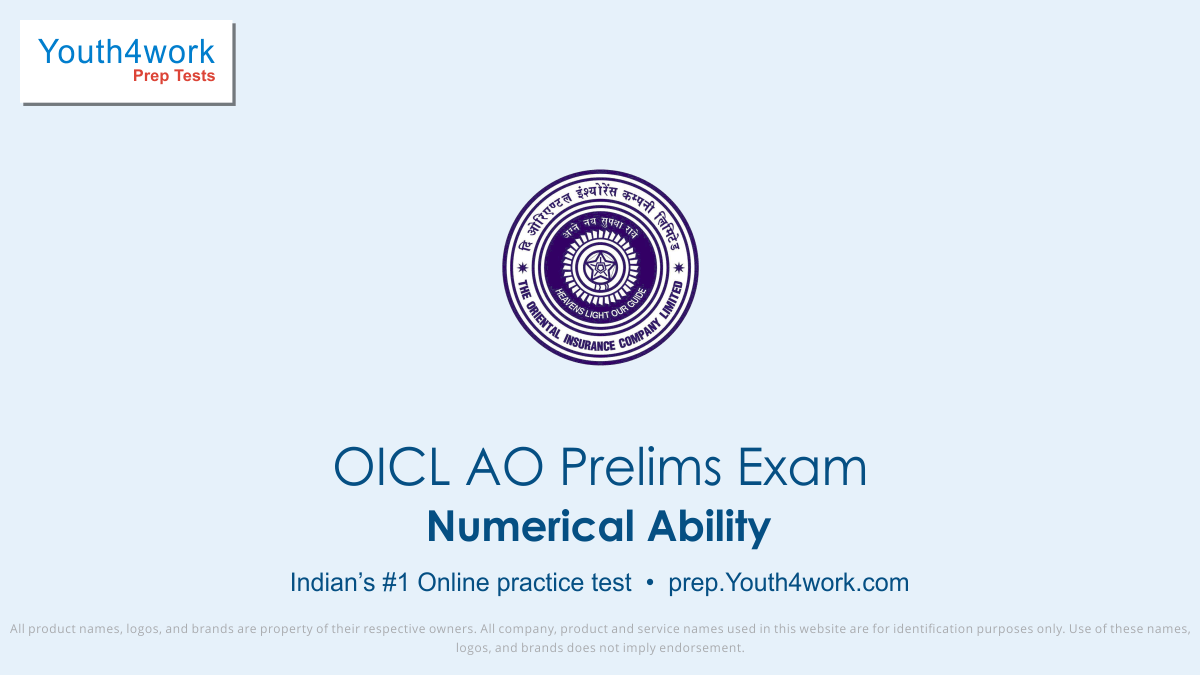 oicl ao prep online Numerical Ability mock test series, numerical ability skills for oicl administrative officer test, oicl exam Numerical Ability practice papers, oicl recruitment exam Numerical Ability online prep, math aptitude mcqs for oicl ao, oicl ao Numerical Ability test, Numerical Ability q