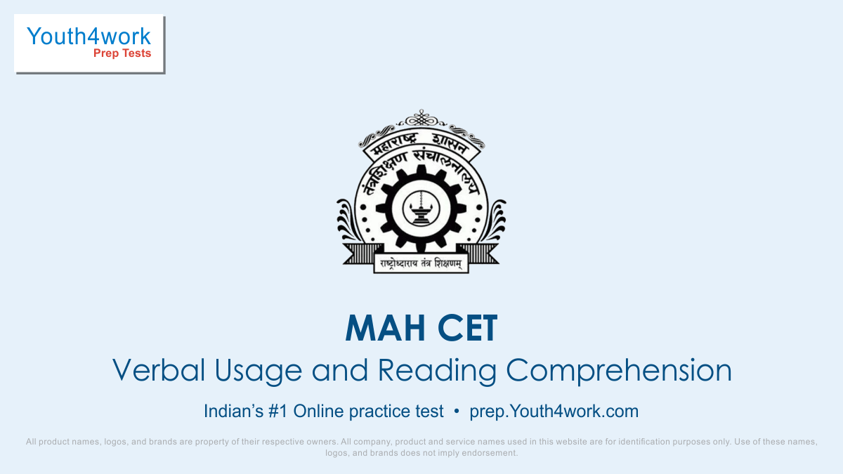 Verbal & Reading for management entrance MAH CET, MAH CET, MAH MBA CET, MAH CET mock test, MAH CET exam,Free MAH CET mock test online, MAH LLB CET, MAH CET online revision, Previous year questions, sample paper