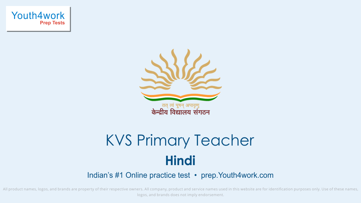 KVS Vacancy, KVS Primary Teacher Mock test for free, Sample Papers, Important Questions, Exam Pattern, KVS Primary Teacher Practice Paper, Solve KVS Test, online preparations
