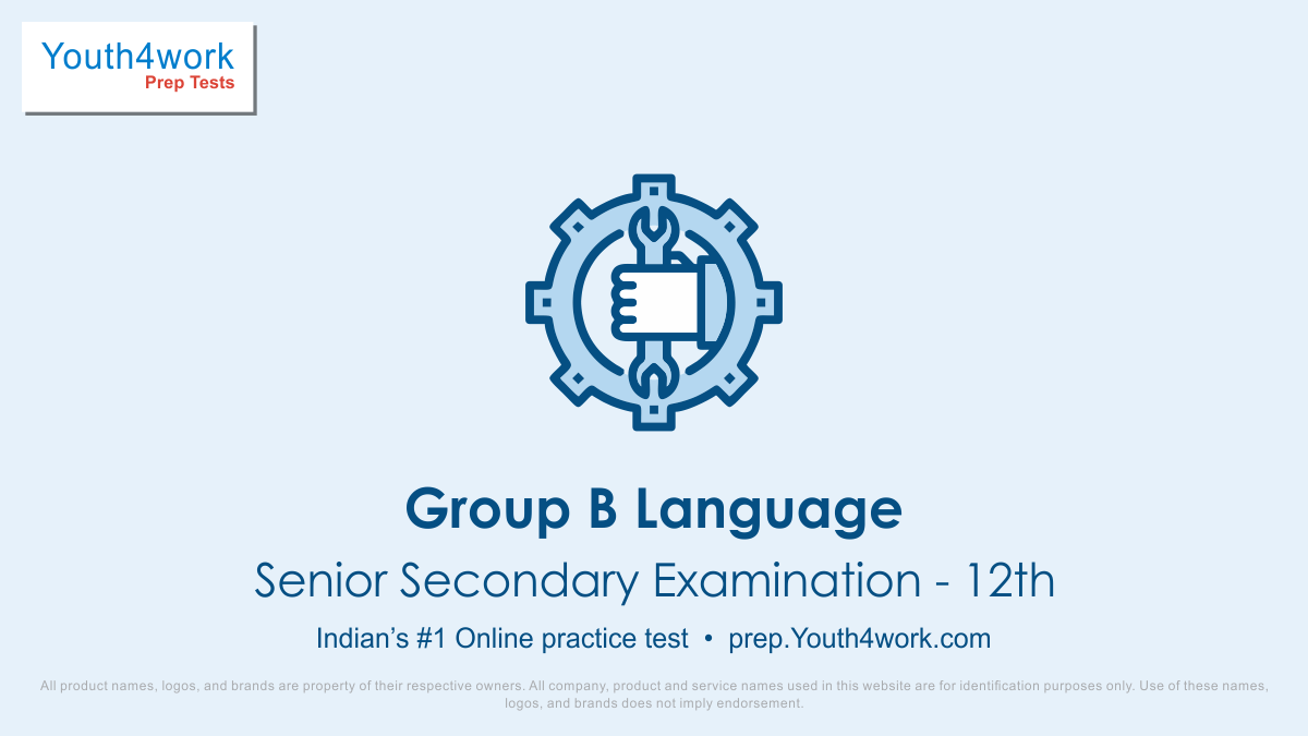 Online ITI Preparation, ITI Entrance exam, Online Secondary examination Test, ITI mock test, ITI aptitude test, Secondary examination 10th important questions, secondary examination-10th answers with solutions, group b language test, iti language result,