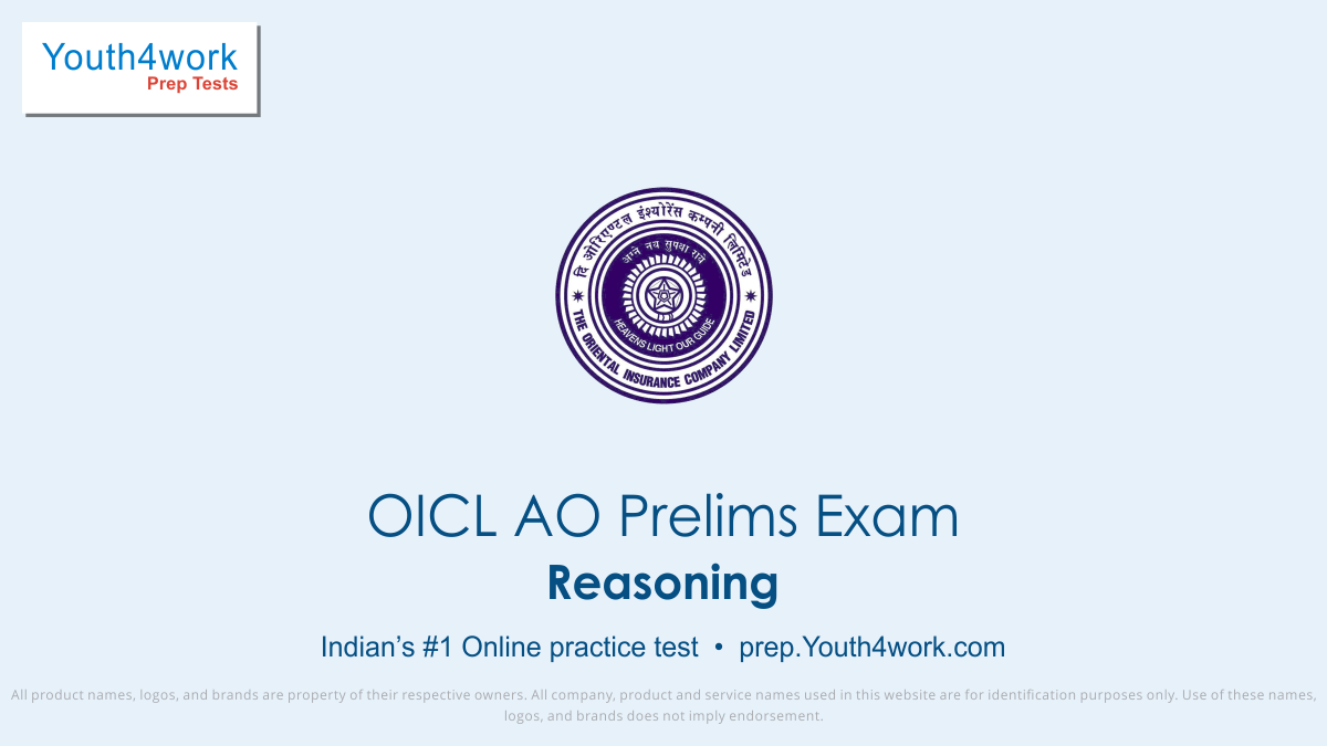 Reasoning free mock test, oicl ao prep Reasoning online mock test series, reasoning skills for oicl administrative officer test, oicl exam Reasoning practice papers, oicl recruitment exam online prep for Reasoning, logical aptitude mcqs for oicl ao, Reasoning sample paper, Reasoning oicl ao test, Re