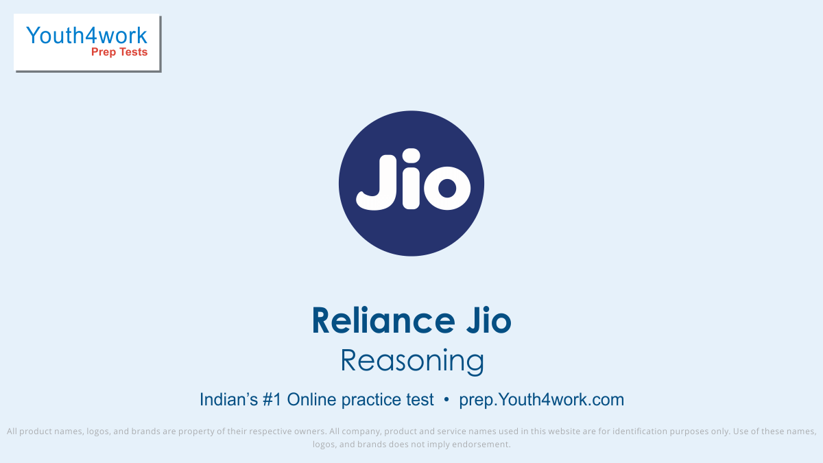 Reliance Jio, Reliance jio Placement, Question Papers, Exam Pattern, Reliance jio Interview Questions, Explanation, Reliance Jio Mock Test Series,  Reliance Jio Free Online Test, Reliance Jio Practice Test, Sample Papers, Model Test Papers, Reliance jio recruitment, English grammar Test, reasoning e