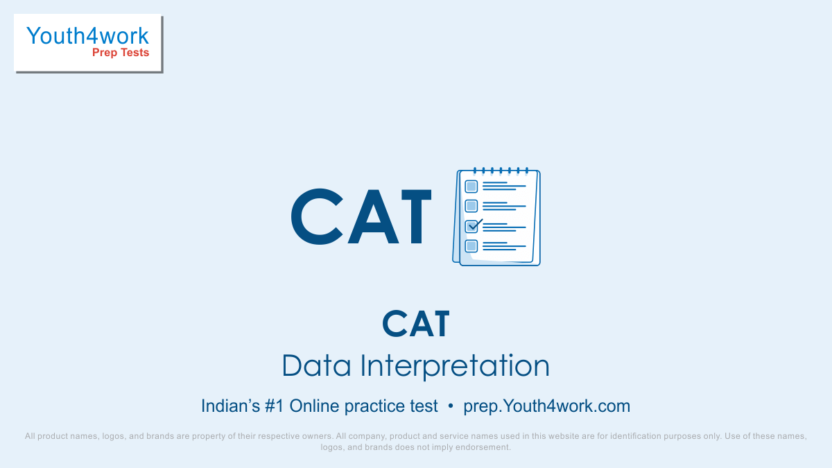 CAT free data interpretation Mock Test series, CAT DI Online Test series, CAT Online Preparation test for data interpretation, cat di Practice set, online entrance exam test for cat, cat DAta Interpretation MCQs questions, common admission test, CAT DI Mock Test, Best CAT DI Questions, CAT Exam, CAT