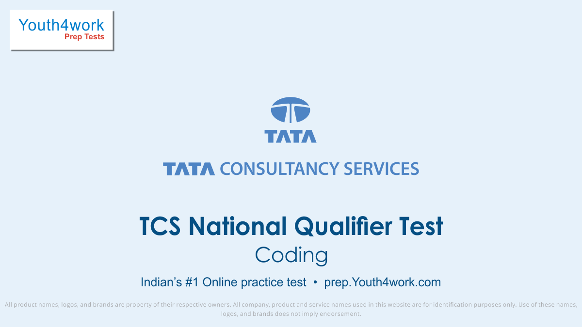 Coding TCS National Qualifier Test Online prep test series
