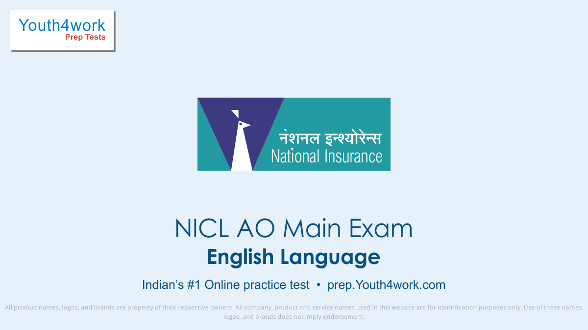 NICL AO Main Exam, NICL AO mock test,  NICL AO practice test, NICL AO previous year papers, NICL AO recruitment, NICL AO model test papers, English test series
