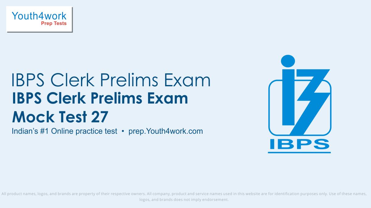 IBPS Clerk online Preparation, IBPS Clerk Online Test, IBPS Clerk Free Practice Test, IBPS Clerk Mock Test, IBPS Clerk Aptitude Test
