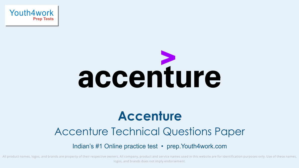 Accenture exam, Accenture interview questions, Accenture test pattern, Accenture quantitative aptitude test, Free Sample paper, Accenture Syllabus, Accenture Mock test, Accenture placement, Accenture recruitment detail, online test, Accenture test preparation series , technical test