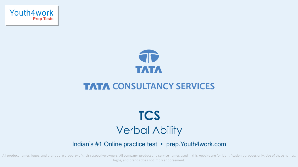 tcs free mock test, tcs online test series, tcs practice set, tcs preparation test, online entrance exam test for tcs, tcs mcqs question, tata consultancy services entrance test