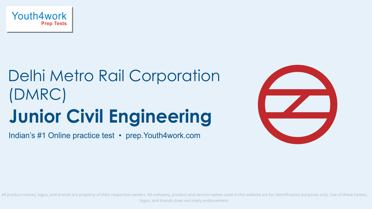 civil engineering free mock test series for dmrc, civil engineering online test series for delhi metro, civil questions practice test for dmrc, civil engi sample papers, dmrc recruitment papers for civil engineering, civil engi model test papers, dmrc mcq