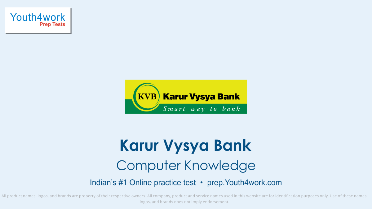Karur Vysya Bank, Karur Vysya Bank jobs, Karur Vysya bank preparation, Karur Vysya bank vacancy, Karur Vysya bank recruitment, Karur Vysya bank online test, Karur Vysya bank free test, Karur Vysya bank Question paper, Karur Vysya bank model test paper, Karur Vysya bank free preparation, prepare for