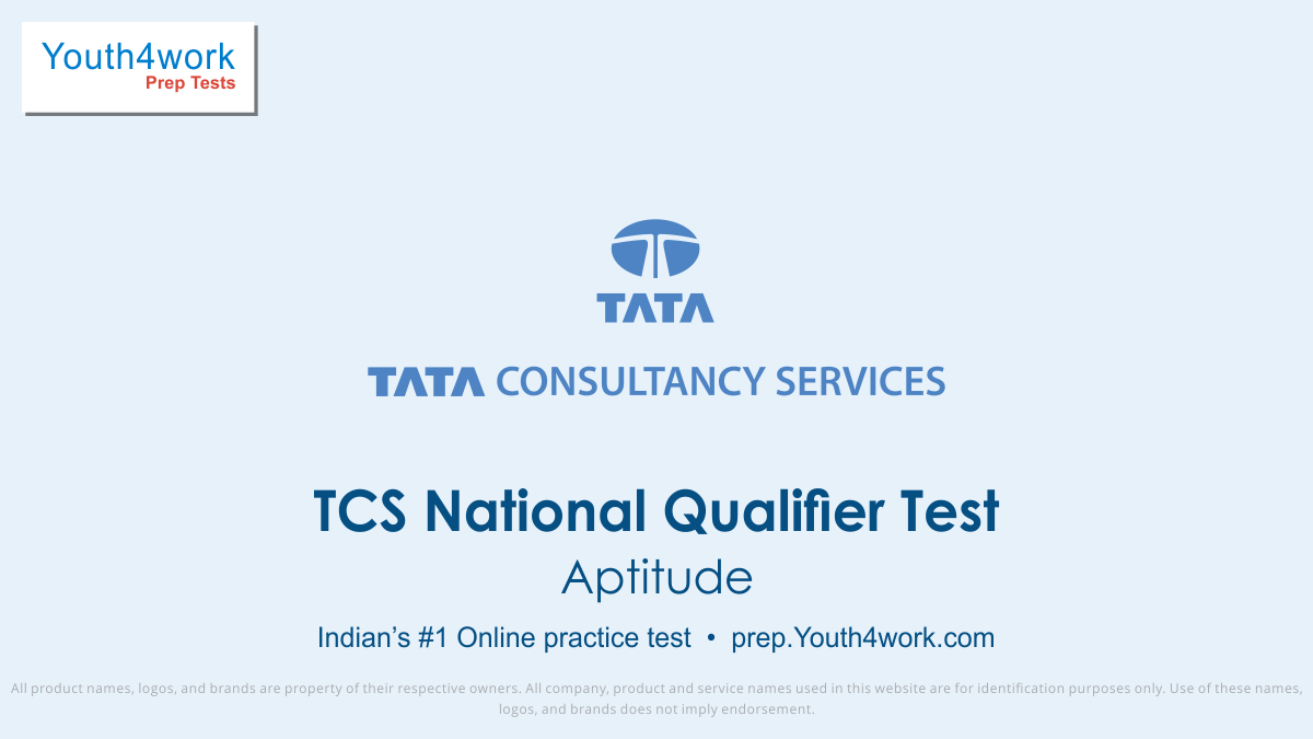 Aptitude for TCS National Qualifier Test Mock Test series