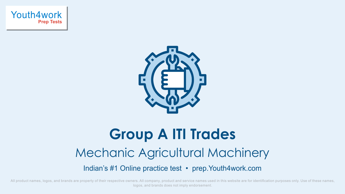 Online ITI Preparation, ITI Entrance exam, Online ITI Test, ITI mock test, ITI aptitude test, Group A-ITI Trades, important questions, Group A- ITI Trades answers with solutions, dgt mock test, ntpc trade exam