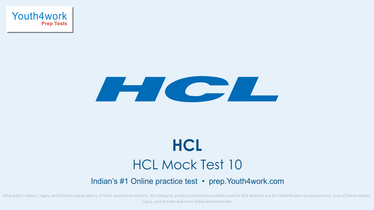 HCL, HCL Placement, HCL Jobs, HCL Recruitment, HCL mock test, HCL online preparation, HCL question paper, HCL free Mock Test, HCL Interview question, Prepare for HCL
