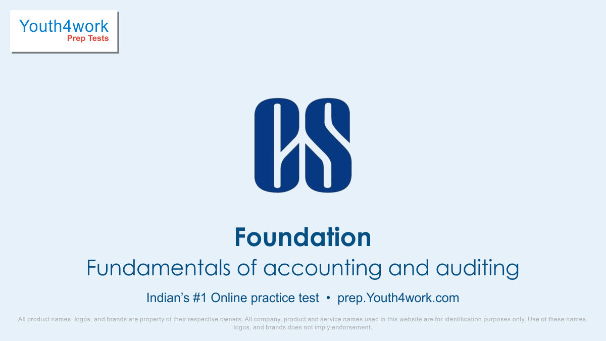 free online cs test, cs mock test, company secretary, cs practice papers, free cs foundation practice paper, cs executive mock test, free online practice test, foundation exam pattern, accounting test