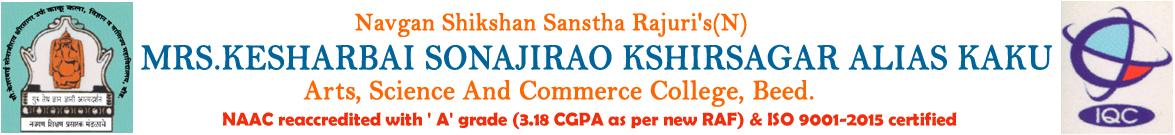 MKSKAKASCC-Mrs Kesharbai Sonajirao Kshirsagar Alias kaku Arts Science And Commerce College