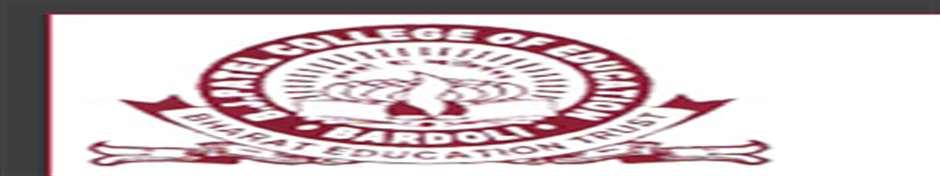 BJPCE-B J Patel College of Education