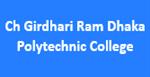 CGRDPC-Ch Girdhari Ram Dhaka Polytechnic College