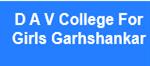 DAVCGG-D A V College For Girls Garhshankar