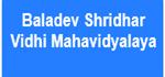 BSVM-Baladev Shridhar Vidhi Mahavidyalaya