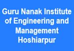 GNIEM-Guru Nanak Institute of Engineering and Management Hoshiarpur