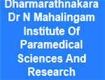 DDNMIPSR-Dharmarathnakara Dr N Mahalingam Institute  Of Paramedical Sciences And Research