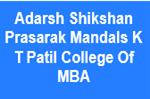 ASPMKTPCMBA-Adarsh Shikshan Prasarak Mandals K T Patil College Of MBA