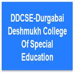 DDCSE-Durgabai Deshmukh College Of Special Education