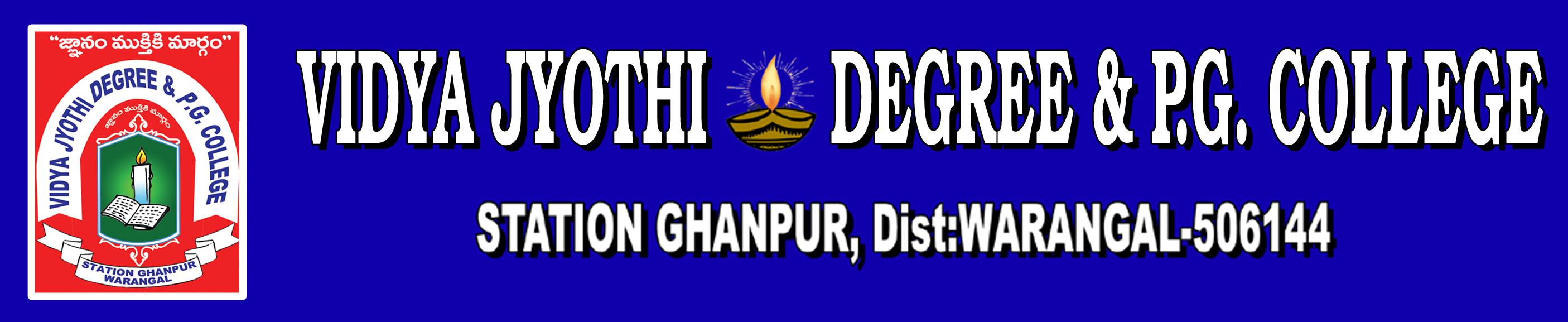 VJDPGC-Vidya Jyothi Degree and PG College