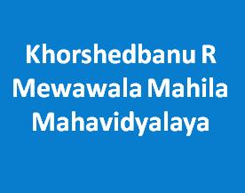 KRMMM-Khorshedbanu R Mewawala Mahila Mahavidyalaya