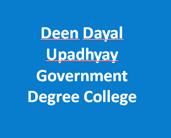 DDUGDC-Deen Dayal Upadhyay Government Degree College
