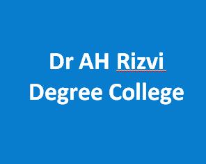 DAHRDC-Dr AH Rizvi Degree College