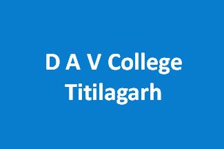 DAVCT-D A V College Titilagarh