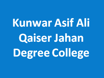 KAAQJDC-Kunwar Asif Ali Qaiser Jahan Degree College