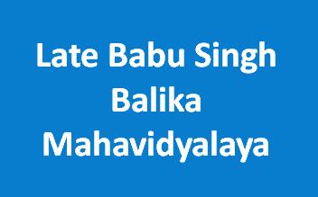 LBSBM-Late Babu Singh Balika Mahavidyalaya