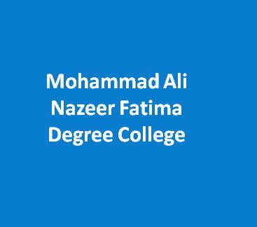 MANDC-Mohammad Ali Nazeer Fatima Degree College