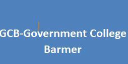 GCB-Government College Barmer
