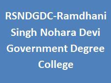RSNDGDC-Ramdhani Singh Nohara Devi Government Degree College