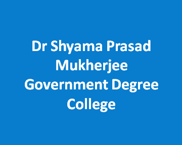 DSPMGDC-Dr Shyama Prasad Mukherjee Government Degree College