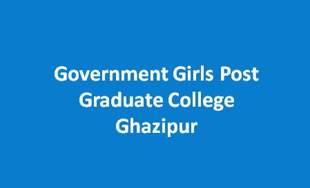 GGPGC-Government Girls Post Graduate College Ghazipur