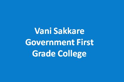 VSGFGC-Vani Sakkare Government First Grade College