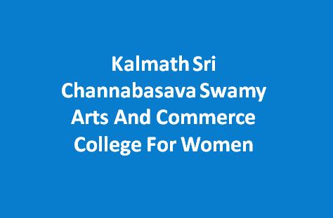 KSCSACCW-Kalmath Sri Channabasava Swamy Arts And Commerce College For Women