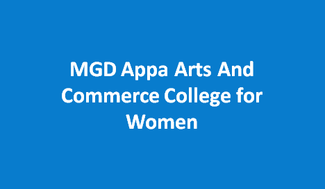 MGDAACCW-MGD Appa Arts And Commerce College for Women
